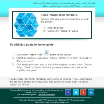 Email Template: Monitor