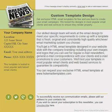Email Template: Morning news