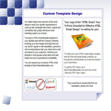 Email Template: Mosaic notes