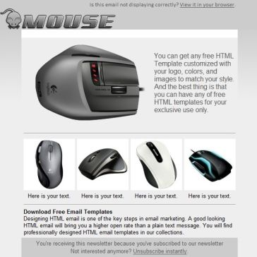 Email Template: Mouse