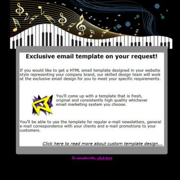 Email Template: Musical message