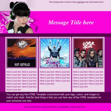 Email Template: Music Fan
