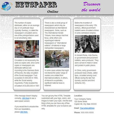 Email Template: Newspapers On-line