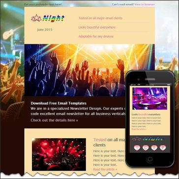 Email Template: Night Party