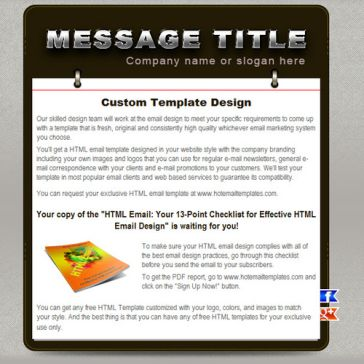 Email Template: Note Pad