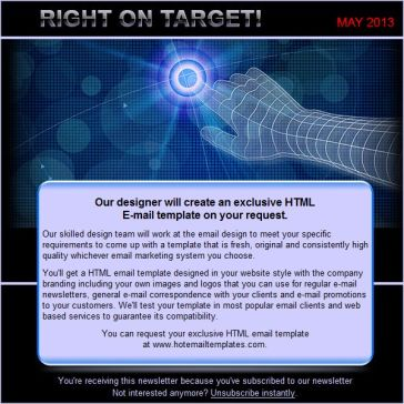Email Template: Right On Target
