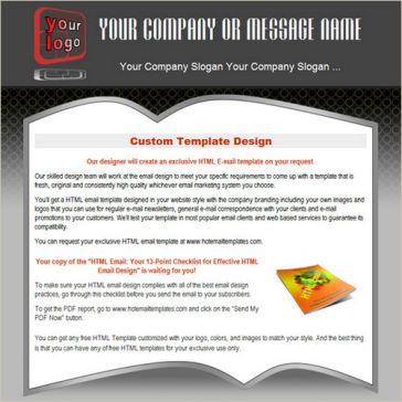 Email Template: Open book