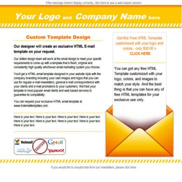 Email Template: Orange E-mail