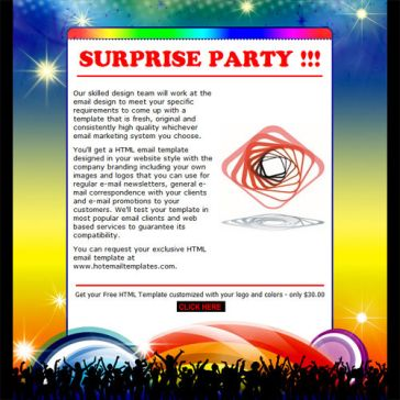 Email Template: Party invitation