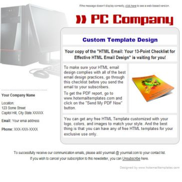 Email Template: PC mail