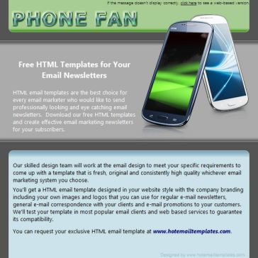 Email Template: PhoneFan