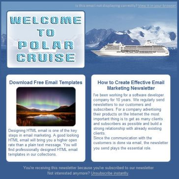 Email Template: Polar Cruise