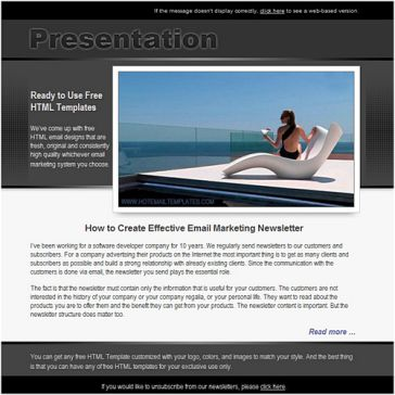 Email Template: Presentation