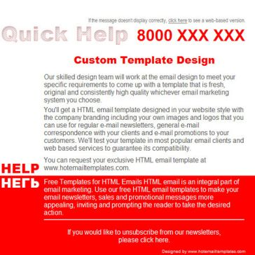 Email Template: Quick help
