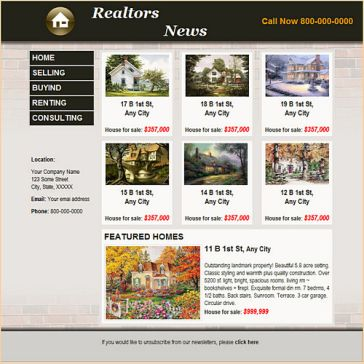 Email Template: Realtors News