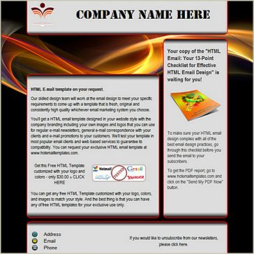 Email Template: Red light