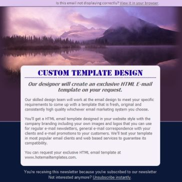 Email Template: Scenery