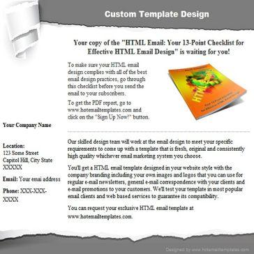 Email Template: Scrap paper