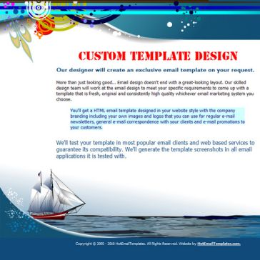 Email Template: Seas Conquerors