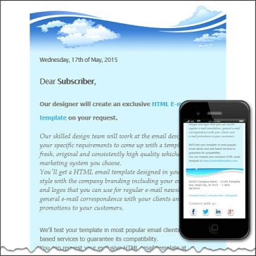 Email Template: Seascape
