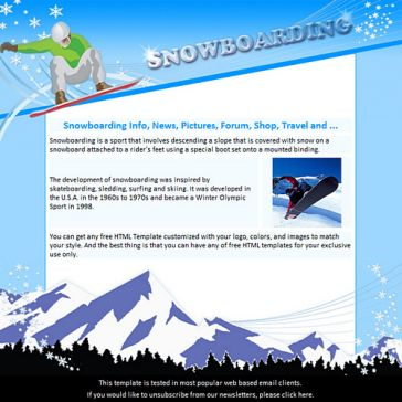 Email Template: Snowboarding
