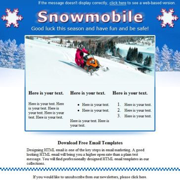 Email Template: Snowmobile