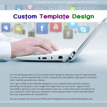 Email Template: Social network
