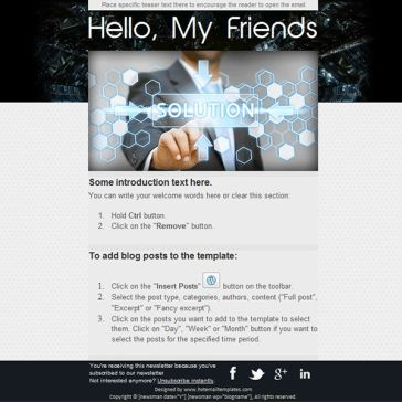 Email Template: Solution
