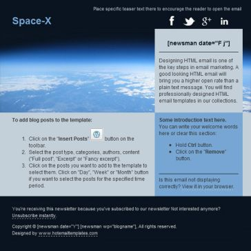 Email Template: Space-X