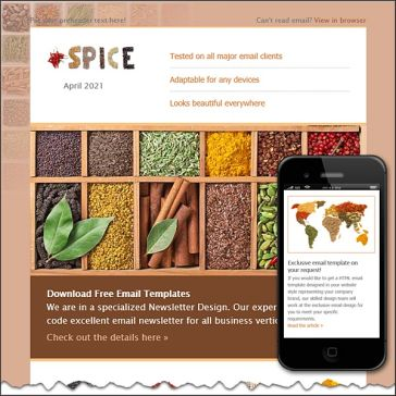 Email Template: Spices