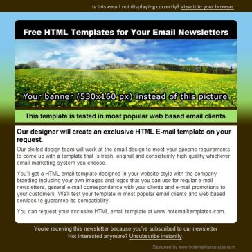 Email Template: Spirits