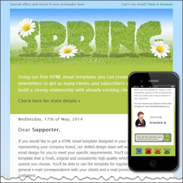 Email Template: Spring