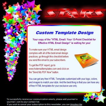 Email Template: Stars