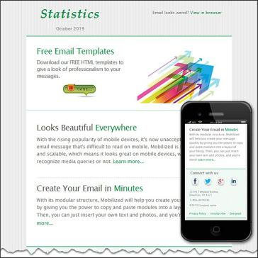 Email Template: Statistics
