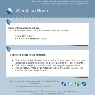 Email Template: Steelblue