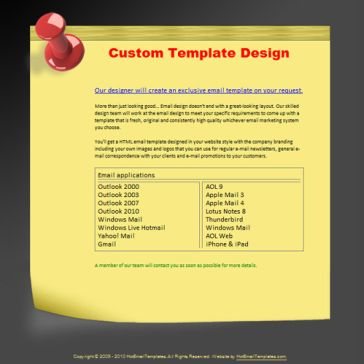 Email Template: Stick Notes