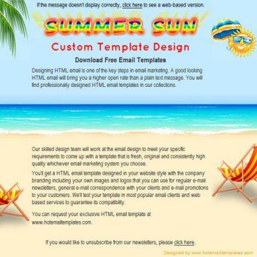 Email Template: Summer Sun