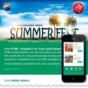 Email Template: Summer Fest