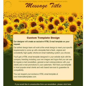 Email Template: Sunflowers