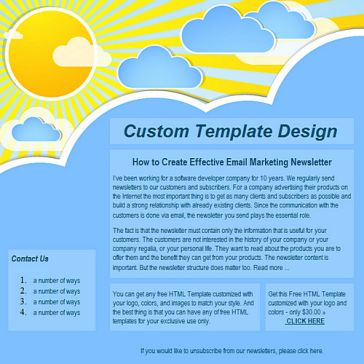 Email Template: Sunshine