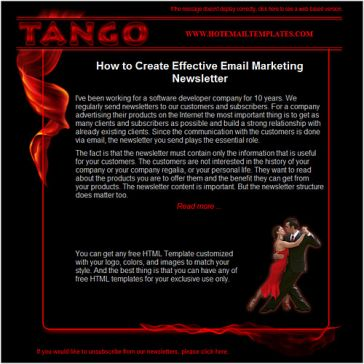 Email Template: Tango