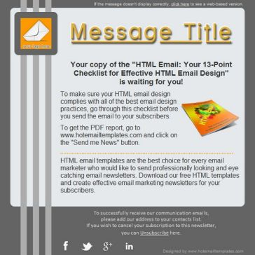 Email Template: Three lines