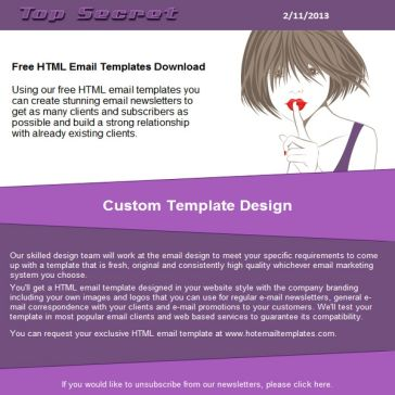 Email Template: Top secret
