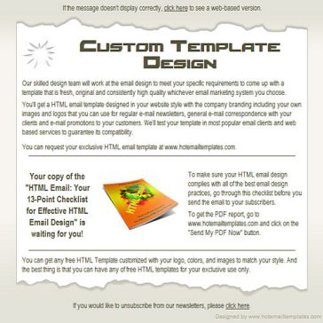 Email Template: Torn edge