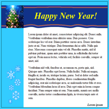Email Template: New Year II