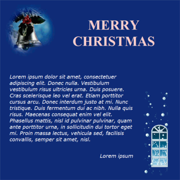 Email Template: Marry Christmas