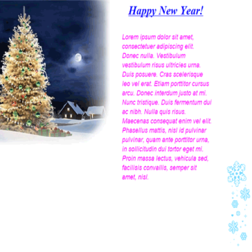 Email Template: New Year