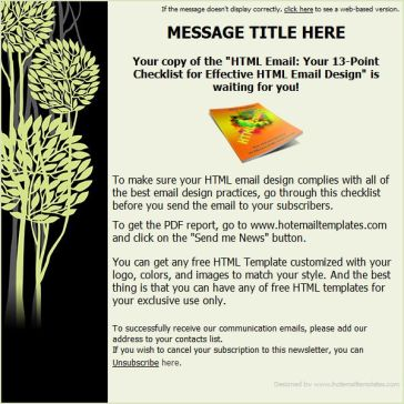Email Template: Trees