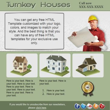 Email Template: Turnkey houses