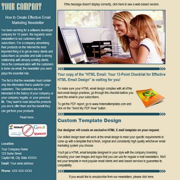 Email Template: Two color